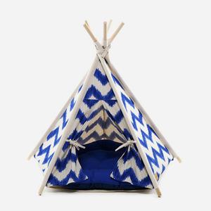 """H&B Tepee Tent - """"Zigzag Blue"""