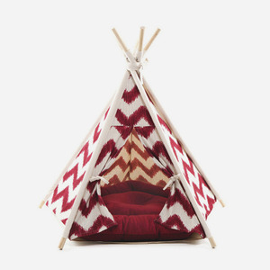 "H&B Tepee Tent ""zigzag red"""