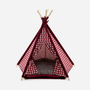 "H&B Tepee Tent ""Geometry Red"""